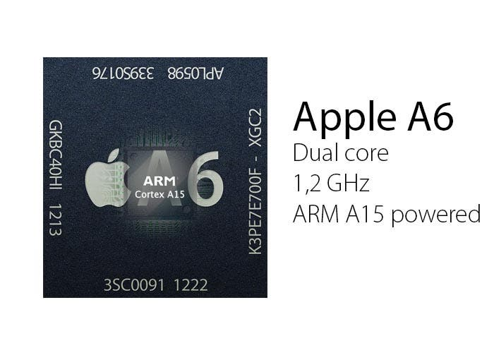 Apple A6 con ARM Cortex A15 dentro