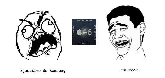 Caras de Samsung y Apple al fabricar el Apple A6
