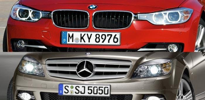 BMW Serie 3 y Mercedes Clase C