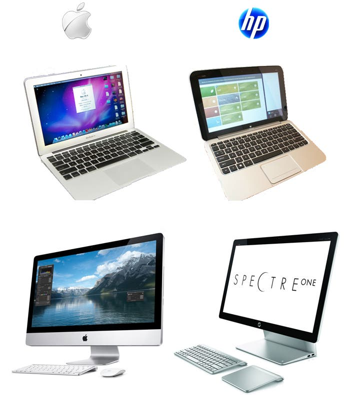 HP parece haber tomado ejemplo de la belleza y sobriedad que ostentan los productos de Apple