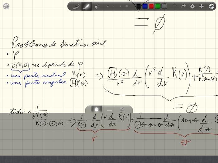 Dos capturas de pantalla sobre el funcionamiento de Good Notes en el iPad