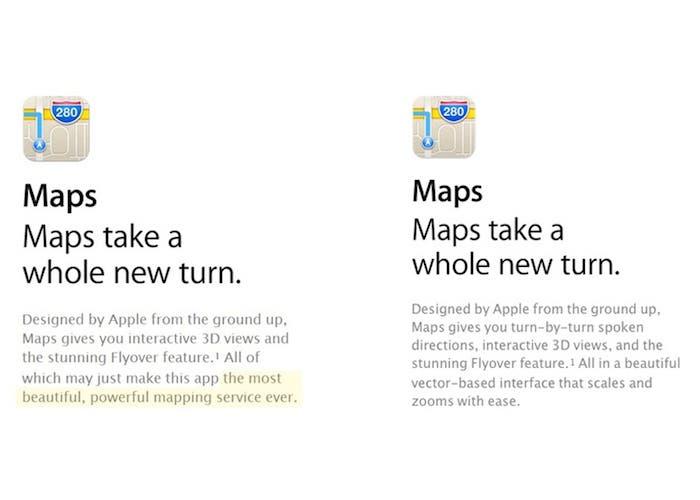Aplicación Mapas iOS 6