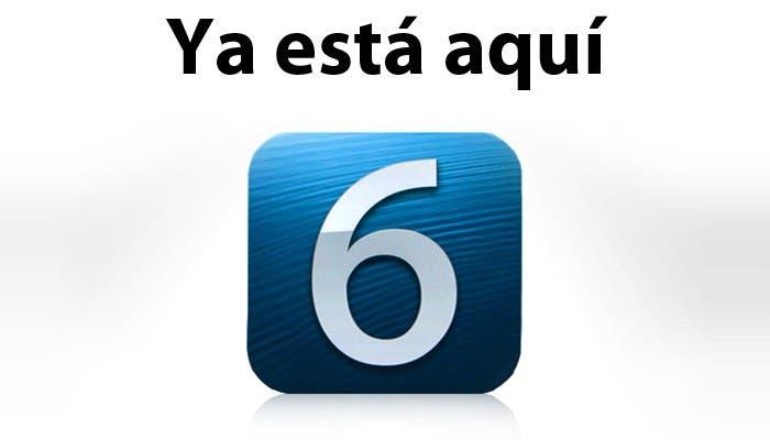 iOS 6 ya está aqui