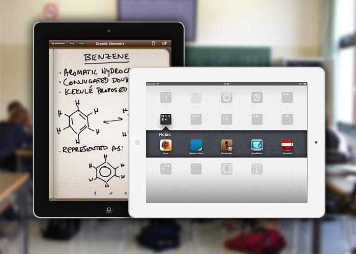 Cabecera de Aplicaciones para tomar notas en el iPad