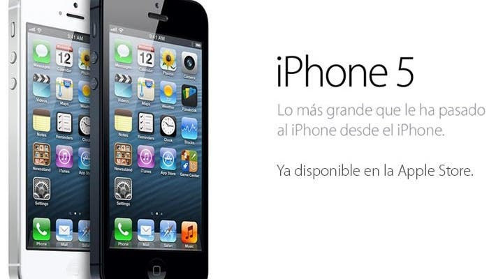 iPhone 5 en la Apple Store