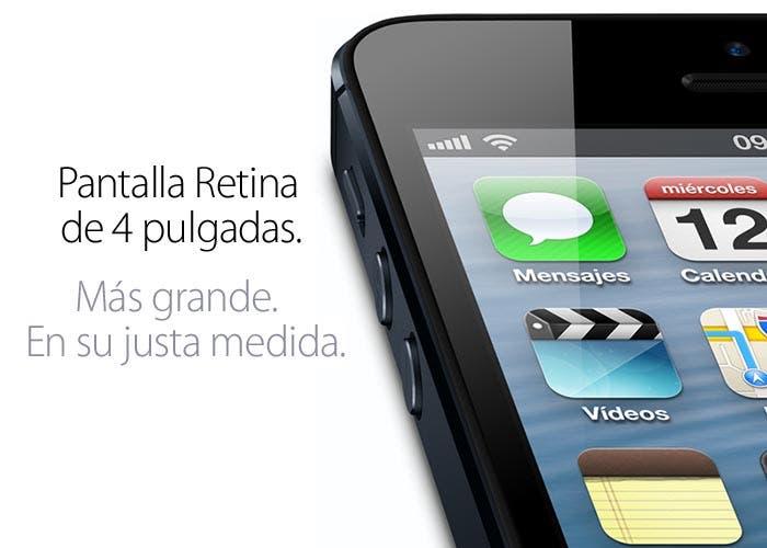 Pantalla Retina de 4 pulgadas del iPhone 5