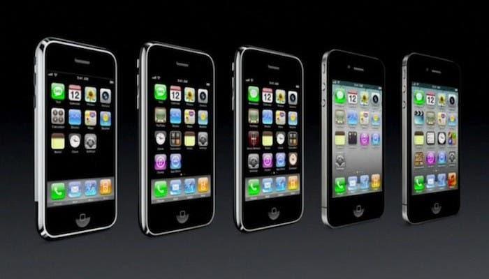 Evolución de los distintos modelos del iPhone