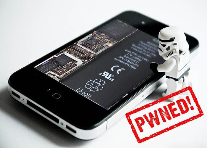 Darth Vader haciendo jailbreak al iPhone