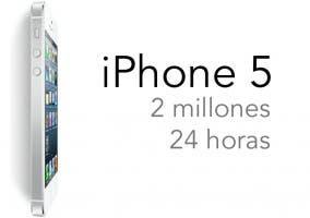 Apple ha vendido 2 millones de iPhone 5 en 24 horas