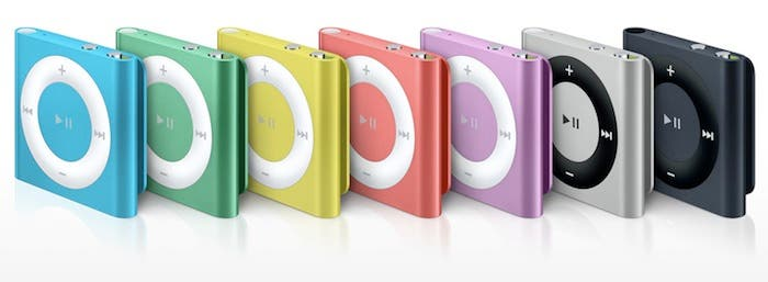 Nuevos colores para el iPod shuffle