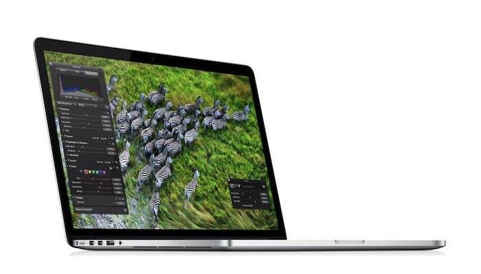 Fotografía publicitaria de las cebras en el MacBook Pro con pantalla Retina