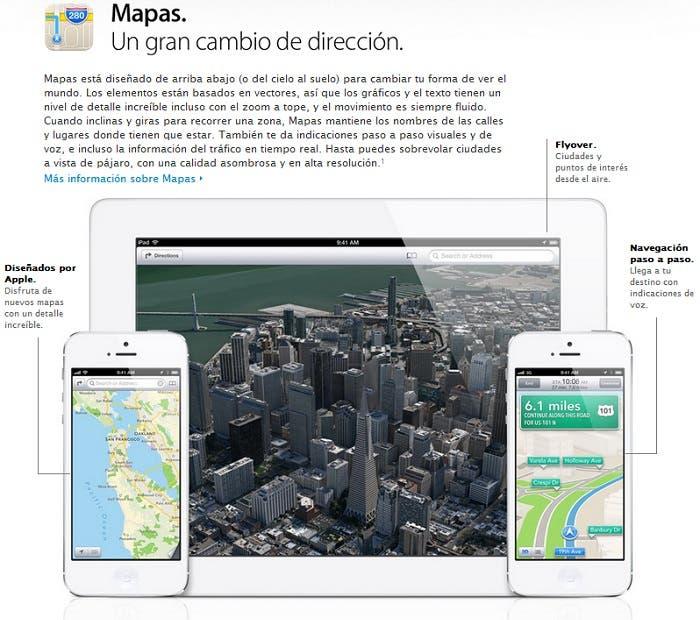 Novedades de Mapas en iOS 6