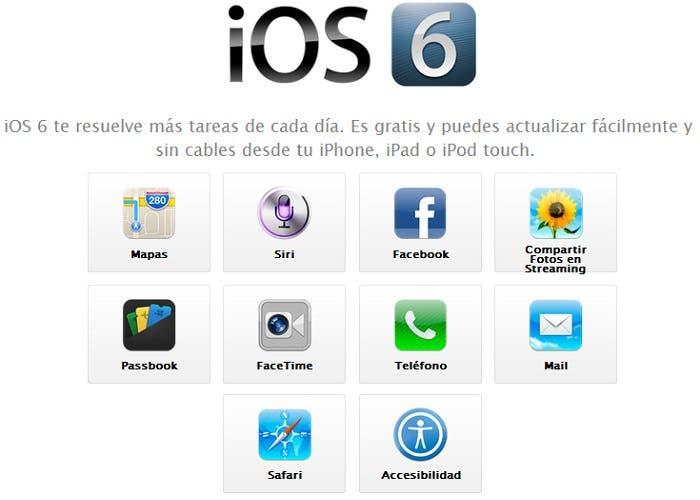 Novedades en iOS 6