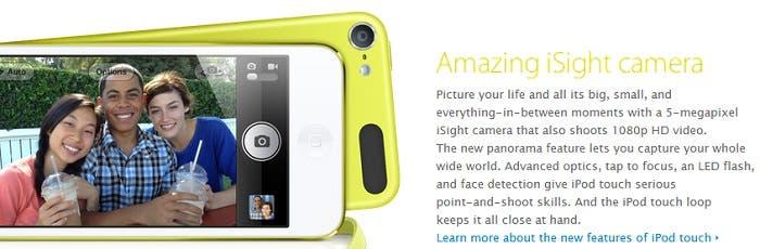 Nueva cámara en el iPod touch