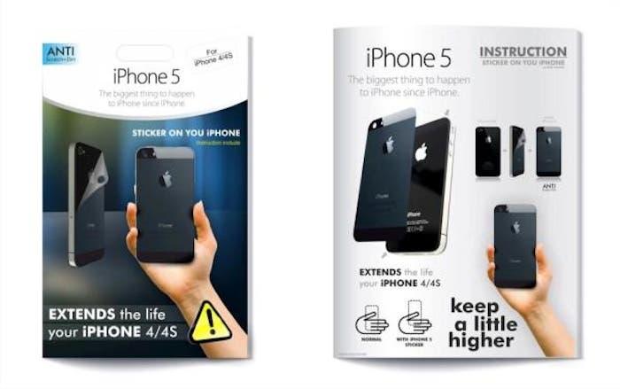 Pegatina para aparentar un iPhone 5