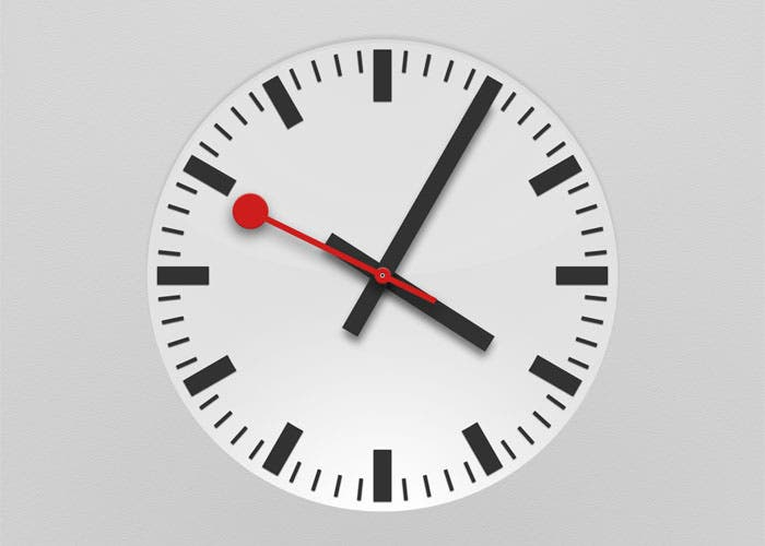Aspect that presents the new analog clock of iOS 6