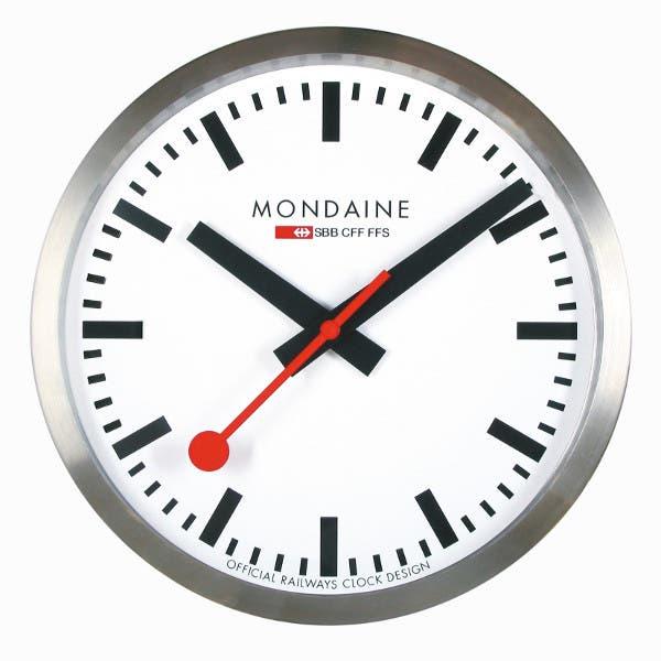 Aspecto de un reloj Mondaine con el mismo diseño que los de SBB e iOS 6