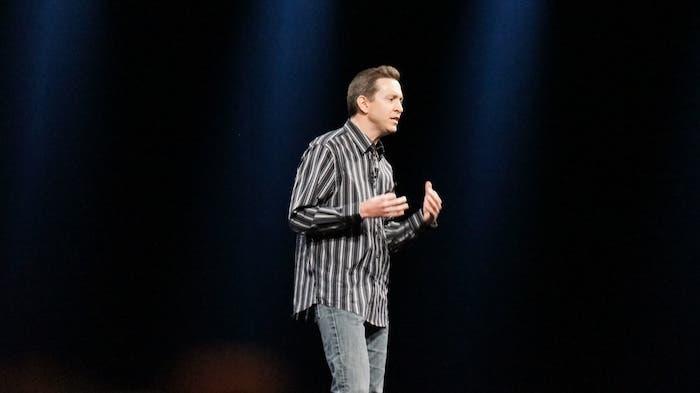 Scott Forestall en una presentación