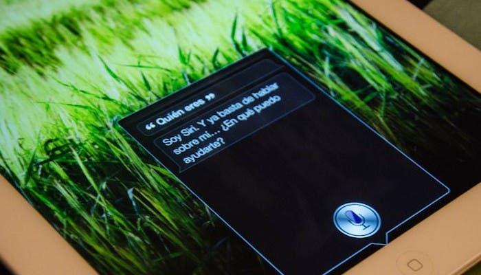 Siri responde a una pregunta en el Nuevo iPad