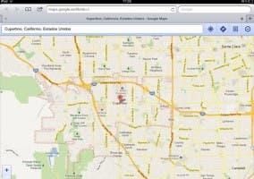 Captura de pantalla de la web app de Google Maps
