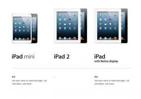 El uso de Siri es posible en el iPad mini