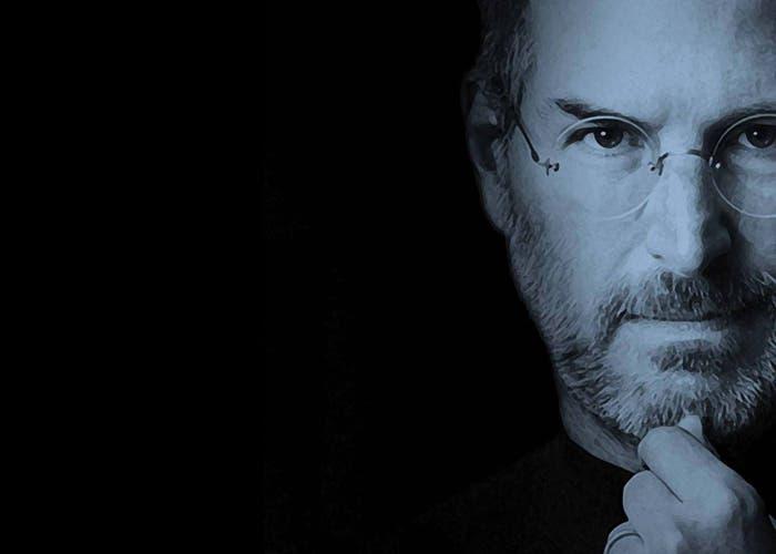 Steve Jobs en azul y negro