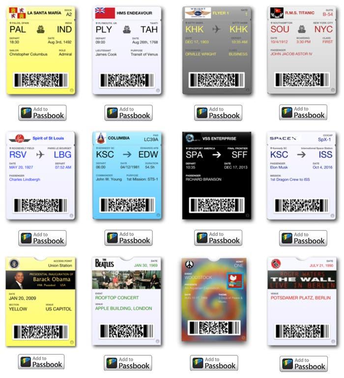 Algunos de los tickets que componen la colección
