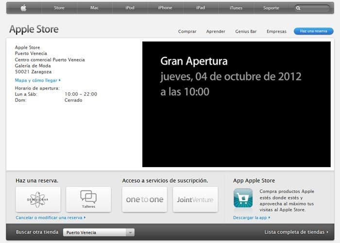 Apple programa la apertura de la nueva Apple Store de Zaragoza para este jueves