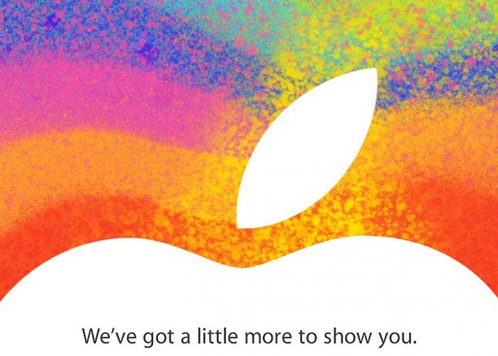 Invitación del evento de Apple del 23 de octubre