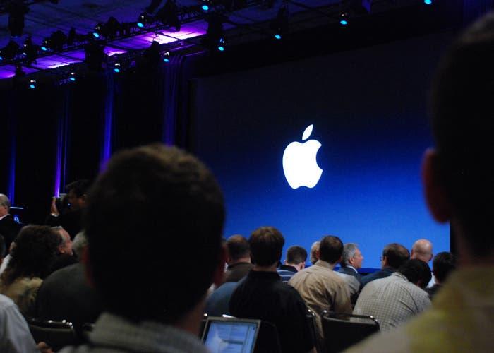 El escenario de la keynote, lugar de presentación de todos los productos ideados en Cupertino