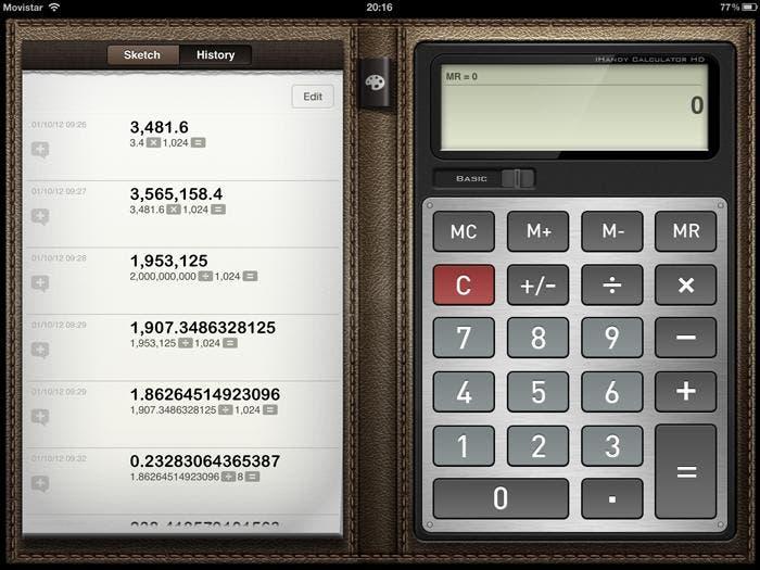 Calculadora para empezar con el iPad