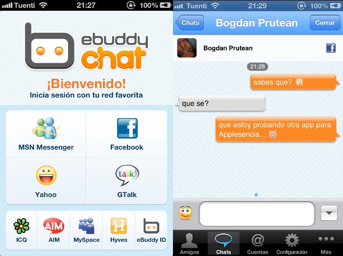 eBuddy para iPhone