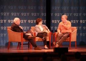 Mossberg, Swisher y Schmidt durante la charla que tuvieron hace escasos días