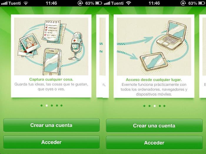 Evernote para iPhone
