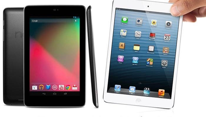 Las dos tablet frente a frente