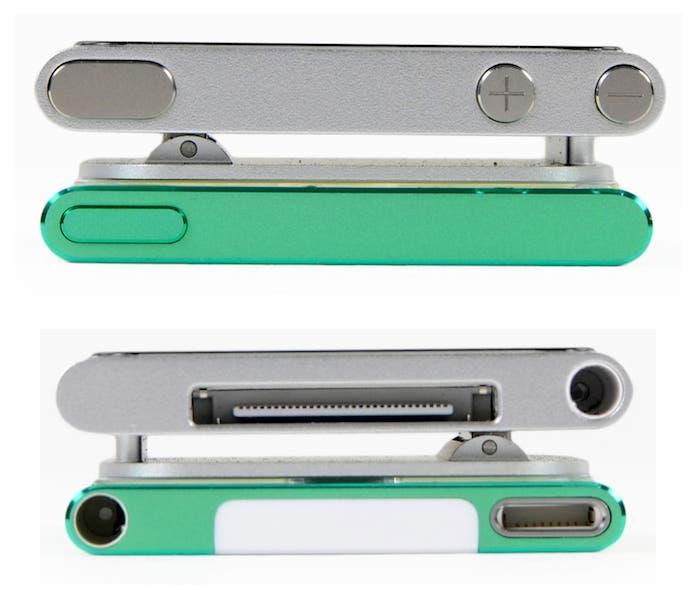 Comparativa anchura iPod nano 7G y 6G