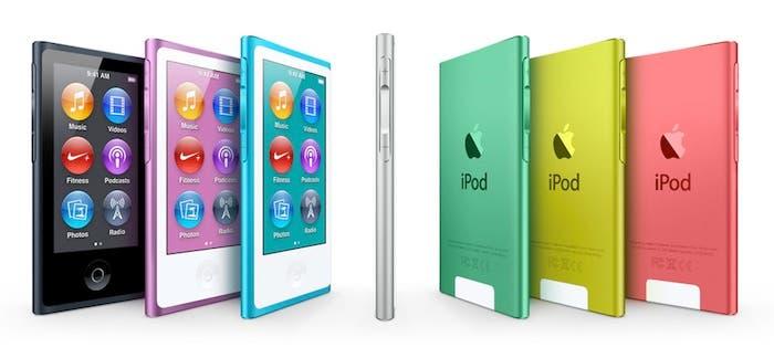 iPod nano 7G: Fotografía oficial de la página de Apple