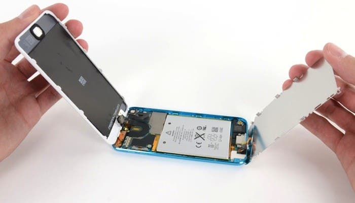 iPod touch 5ª generación desmontado