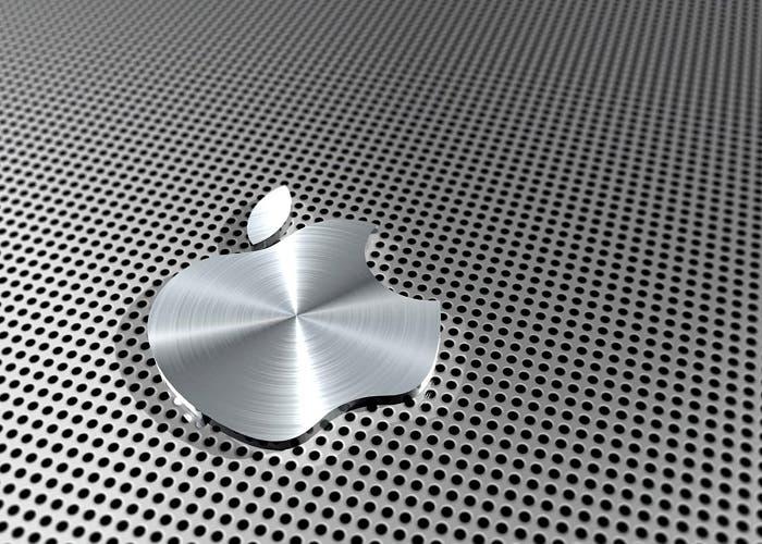 Logotipo de Apple en aluminio
