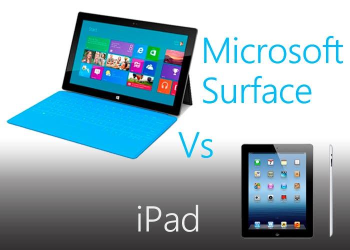 Microsoft Surface contra el nuevo iPad