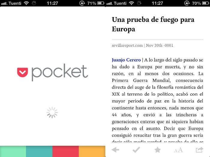 Pocket para iPhone