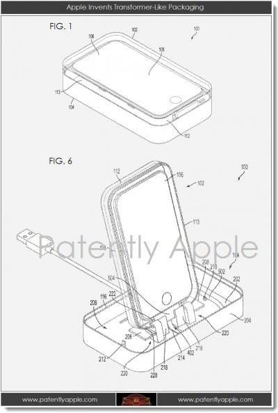 Imagen de la patente de la caja transformable