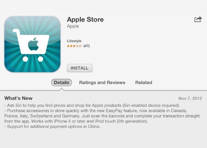 Siri y Passbook se incorporan a Apple Store