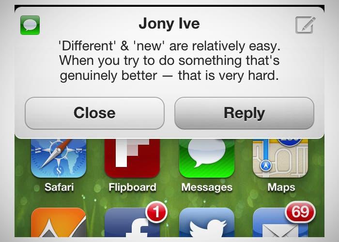 Nuevo concepto de notificaciones en iOS