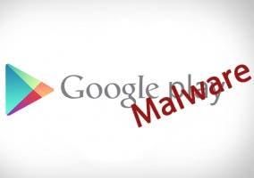 Logo de Google Play con Malware