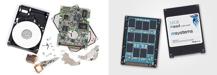HDD y SSD desmontados