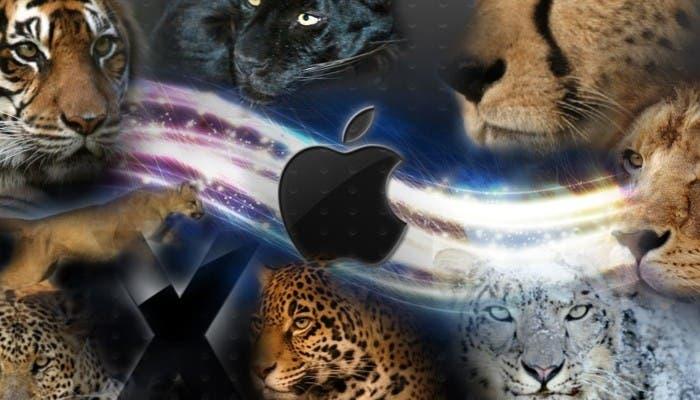 Representación de todos los sistemas operativos de OS X