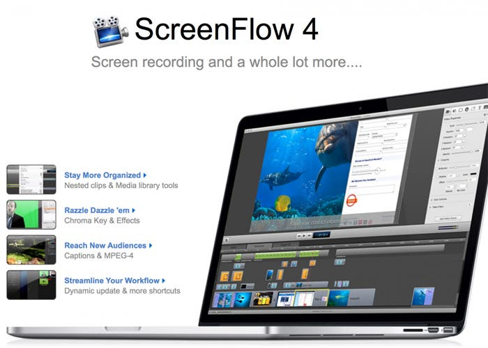 Versión 4.0 de ScreenFlow