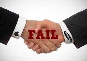Manos representando un acuerdo entre Samsung y Apple