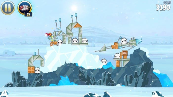 Angry Birds Star Wars en Hoth